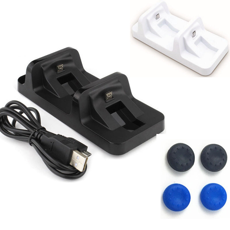 USB Port Dual Charging Dock Station Stand Holder Support Charger For Sony Playstation 4