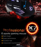 Estone X7 3200DPI LED Optical 7D USB Wired Gaming Mouse - BLACK Estone X7 3200DPI LED Optical 7D USB Wired Gaming Mouse - BLACK