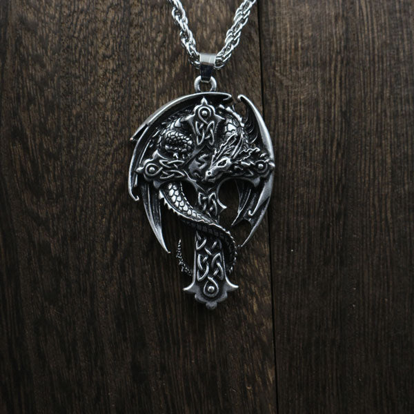 Dragon Cross Necklace