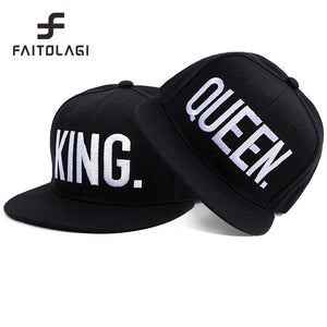 KING / QUEEN Embroidered Snapback Cap