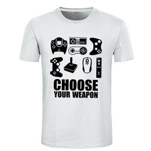 Choose Your Weapon Gamer T Shirt Choose Your Weapon Gamer T Shirt