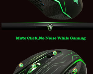 FORKA Silent Click USB Wired Gaming Mouse 6 Buttons 3200DPI FORKA Silent Click USB Wired Gaming Mouse 6 Buttons 3200DPI