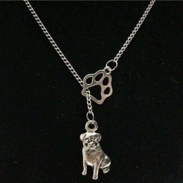 Pug & Paw Necklace