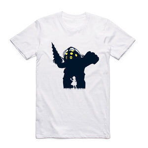 Welcome To Rapture T-Shirt Bioshock Big Daddy Would You Kindly Rapture