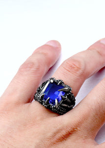 Dragon Claw Ring With Red/Blue/Black Stone Dragon Claw Ring With Red/Blue/Black Stone