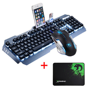 GameRaptor Wired LED Backlit Ergonomic Usb Gaming Keyboard Mouse + Mouse Pad Usb Gaming Keyboard Mouse + Mouse Pad