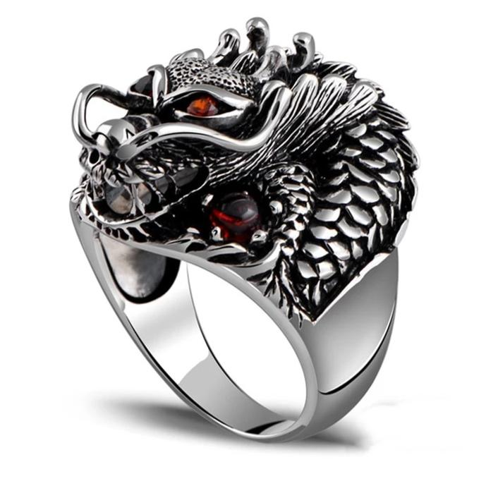 Dragon King Zircon Eyes - Genuine 925 Sterling Silver