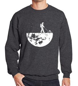 Astronaut Walking On The Moon Sweatshirt