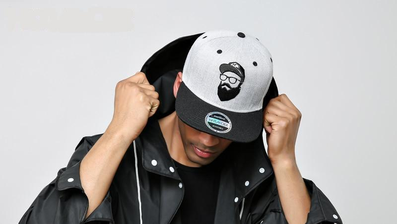 Original Grey Vintage Embroidery Character Snapback Cap