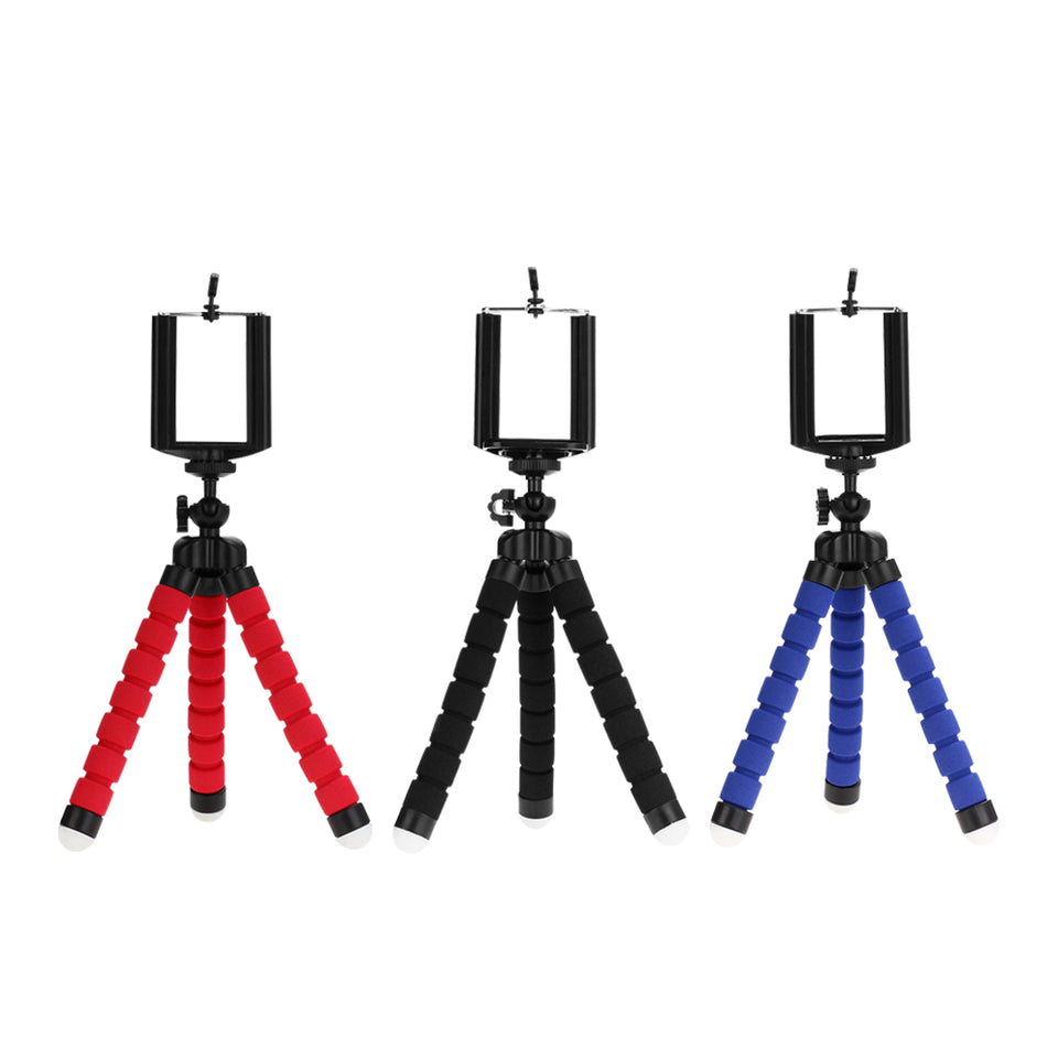Flexible Camera Phone Tripod Stabilizer Travel Stand Holder