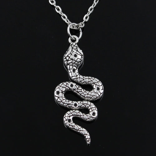 Silver Snake Pendant Necklace
