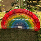 Giant Rainbow Inflatable Pool Float Giant Rainbow Inflatable Pool Float
