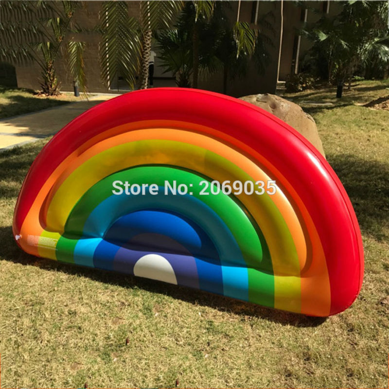 Giant Rainbow Inflatable Pool Float