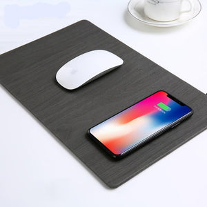 Wood Grain Wireless Charging Mousepad Wood Grain Wireless Charging Mousepad
