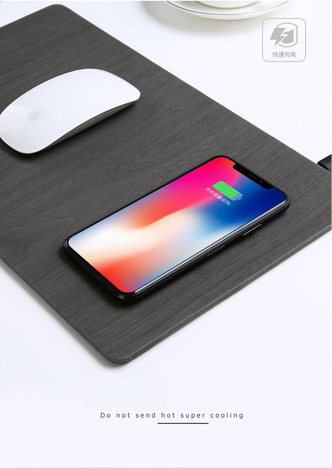 Wood Grain Wireless Charging Mousepad