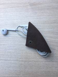 Earphone Cable Organizer (Genuine Leather) Earphone Cable Organizer