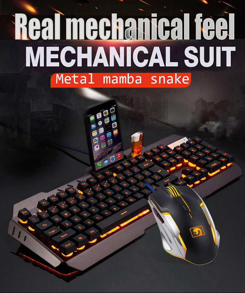 Usb Gaming Keyboard Mouse + Mouse Pad