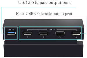 5 USB Port Hub for PS4, High Speed Charger Controller Splitter Expansion Adapter 5 USB Port Hub for PS4, High Speed Charger Controller Splitter Expansion Adapter