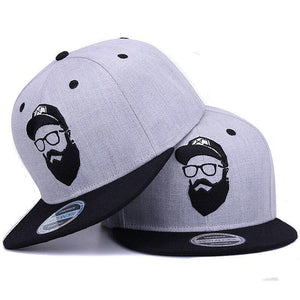 Original Grey Vintage Embroidery Character Snapback Cap Original Grey Vintage Embroidery Character Snapback Cap