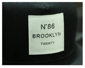 BROOKLYN Letters Solid Color Patch Snapback Hat BROOKLYN Letters Solid Color Patch Snapback Hat