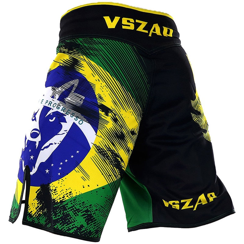 Martial Fitness Brazil Flag Brazilian Jiu Jitsu MMA BJJ Fight Shorts