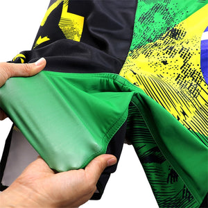 Martial Fitness Brazil Flag Brazilian Jiu Jitsu MMA BJJ Fight Shorts Martial Fitness Brazil Flag Brazilian Jiu Jitsu MMA BJJ Fight Shorts