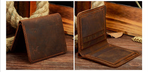Crazy Horse Leather Mens Wallet Crazy Horse Leather Mens Wallet