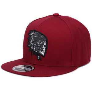 Embroidered Skull Snapback Hat Embroidered Skull Snapback Hat