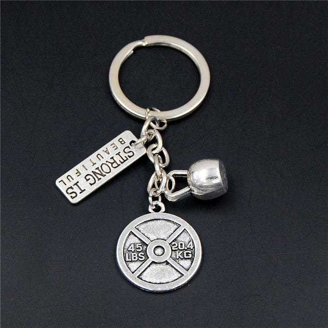 Fitness Motivation Gym Workout Keychain