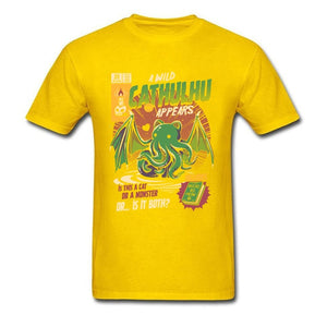 A Wild Cthulhu Appears Lovecraft T-Shirt A Wild Cthulhu Appears T-Shirt