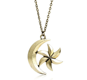 Moon Star Pendant Necklace Moon Star Pendant Necklace