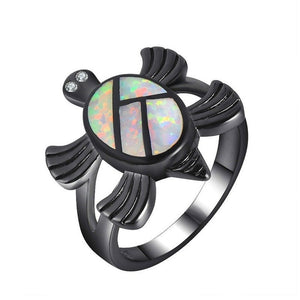 Blue Fire Opal Turtle Ring turtle ring sea turtle ring turtle ring silver turtle mood ring turtle ring for men turquoise turtle ring turtle promise rings
