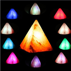 Himalayan Salt Lamp (Triangle) pink himalayan salt lamp - himalayan rock salt lamp - salt rock lamp