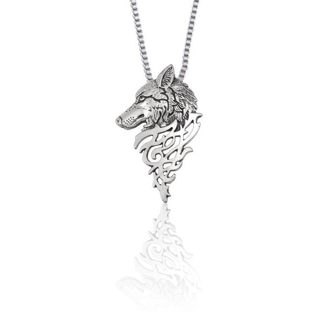 Wolf Necklace Stainless Steel
