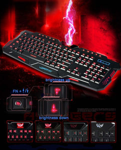 GameRaptor Tri-Color Backlight Computer Gaming Keyboard & Gaming Mouse GameRaptor Tri-Color Backlight Computer Gaming Keyboard & Gaming Mouse