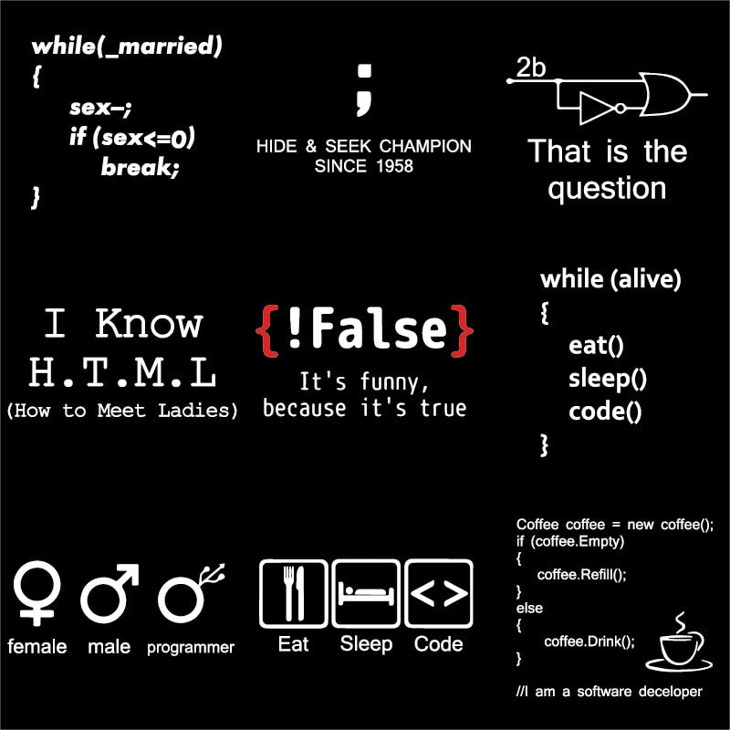 Programming Humor !False It's Funny Because It's True T-Shirt