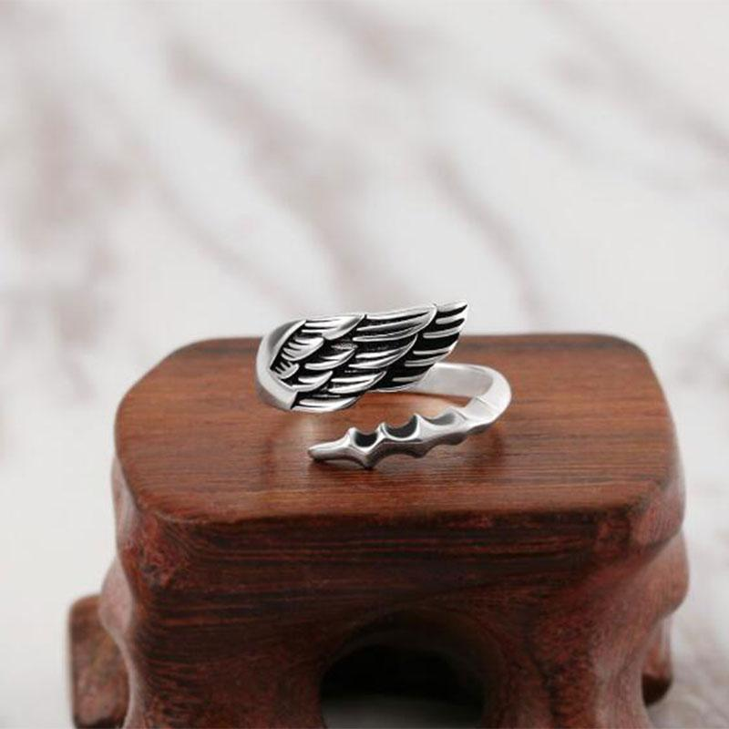 Angel Wing Sterling Silver Ring
