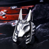 Egyptian God Anubis Jackal Head Ring egyptian ring