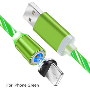 LED Glow Flowing Magnetic Phone Charging Cable magnetic charging cable, magnetic phone charger