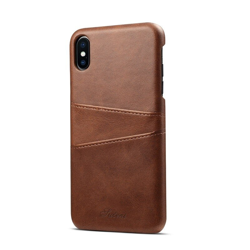 Luxury Leather iPhone Phone Case