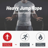 25mm Weighted Jump Rope heavy rope, weighted rope, heavy jump rope, jump rope weight loss, best weighted jump rope