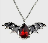 Crystal Vampire Bat Necklace vampire necklace, bat necklace