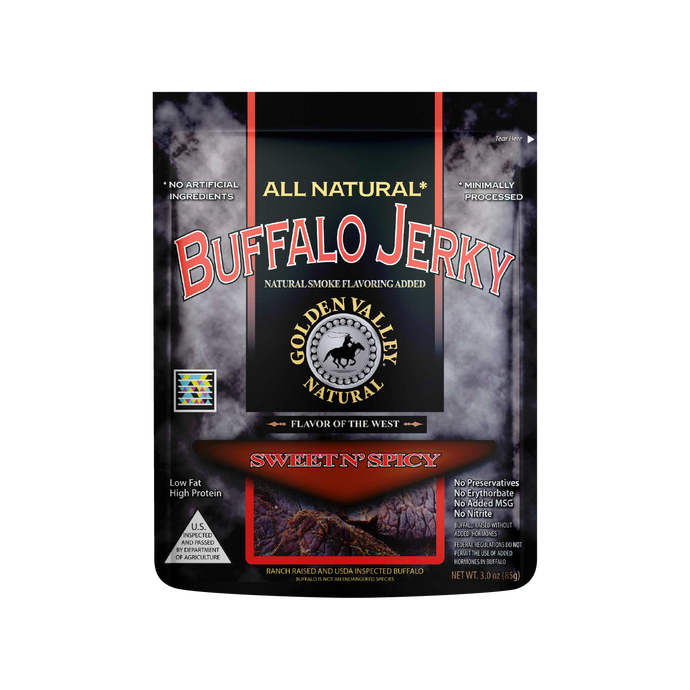 Natural Buffalo Jerky 3.0 oz - Sweet n' Spicy