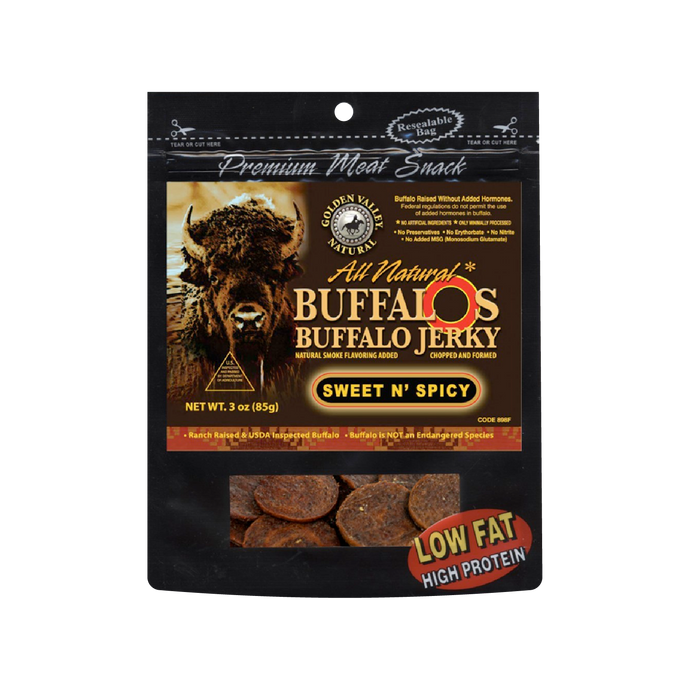 Natural BuffalO's Buffalo Jerky 3.0 oz - Sweet n' Spicy
