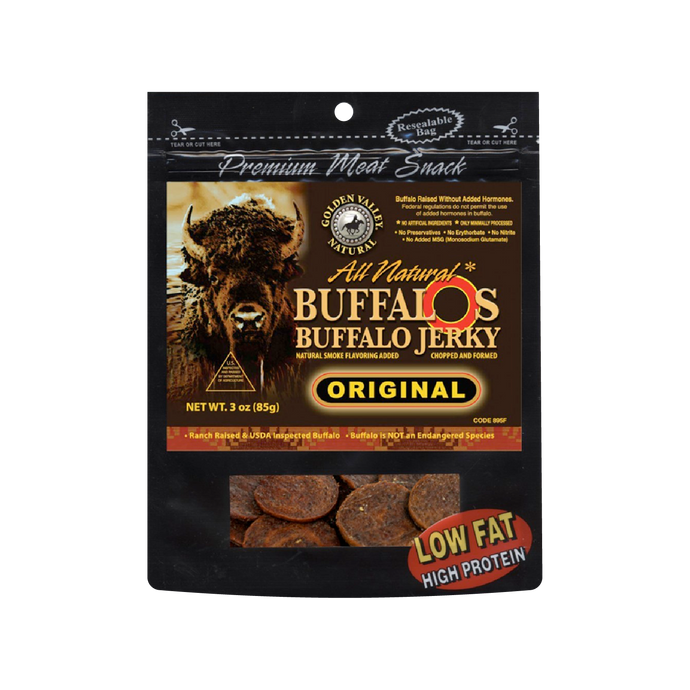 Natural BuffalO's Buffalo Jerky 3.0 oz - Original