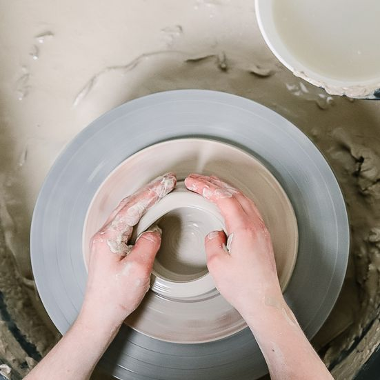 The pottery process:  Stage #2 - Throwing the body