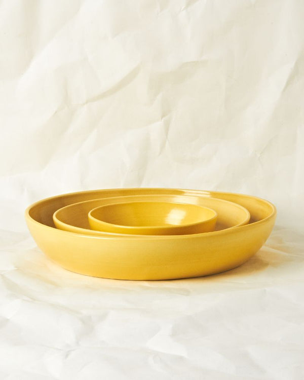 Serving bowl set in Pollen