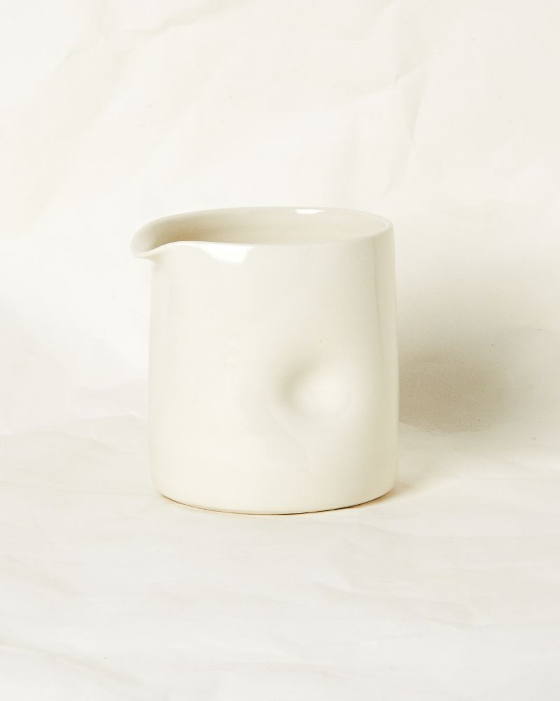 Dimpled jug in Milk