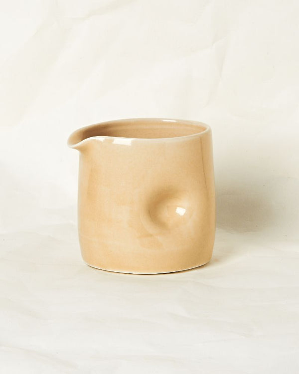 Dimpled jug in Oatmeal