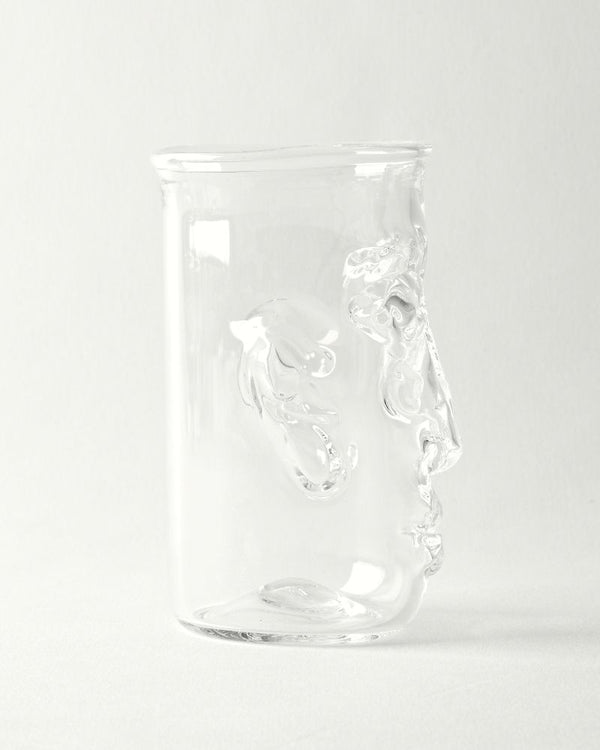 Hand blown face tumblers